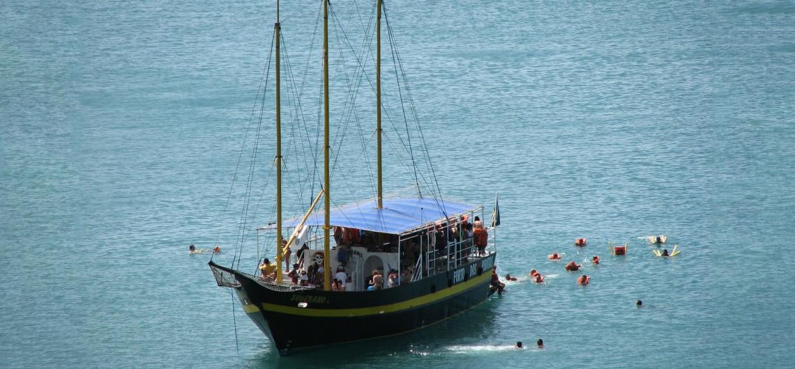 Vídeo: Passeio de Escuna em Porto Belo - Barco Pirata