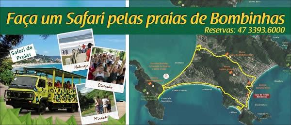 Safari de Praias - Overland Tours - Passeio em Bombinhas SC