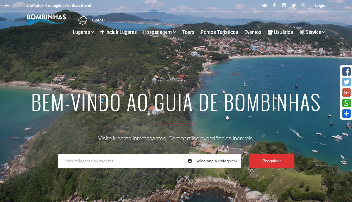 Turistas em Bombinhas poderão usar portal digital e aplicativo construído de forma colaborativa