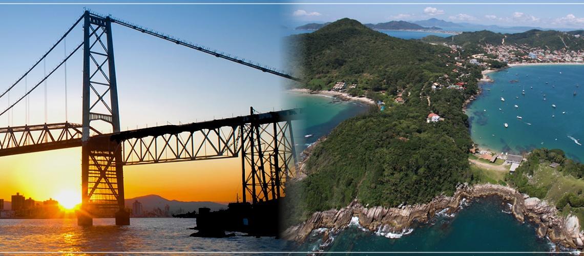 Como chegar de Florianópolis até Bombinhas? Qual é a distancia entre essas cidades?