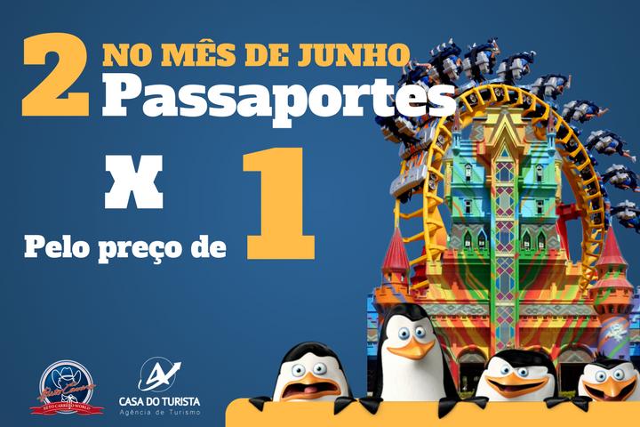 No Mês de Maio Passaportes Beto Carrero 2x1