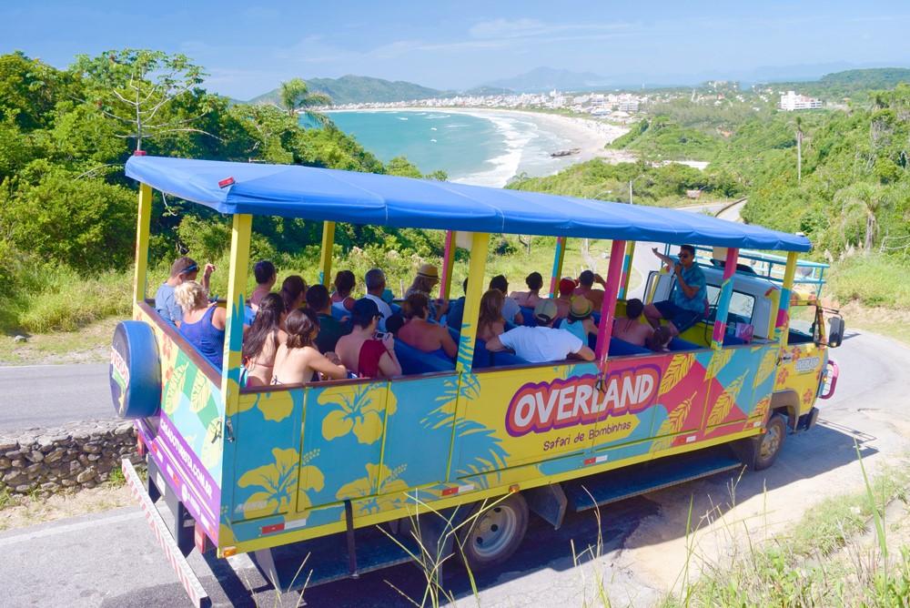 O Safari de Bombinhas é um tour de turismo receptivo em Bombinhas. Fonte: Casa do Turista.