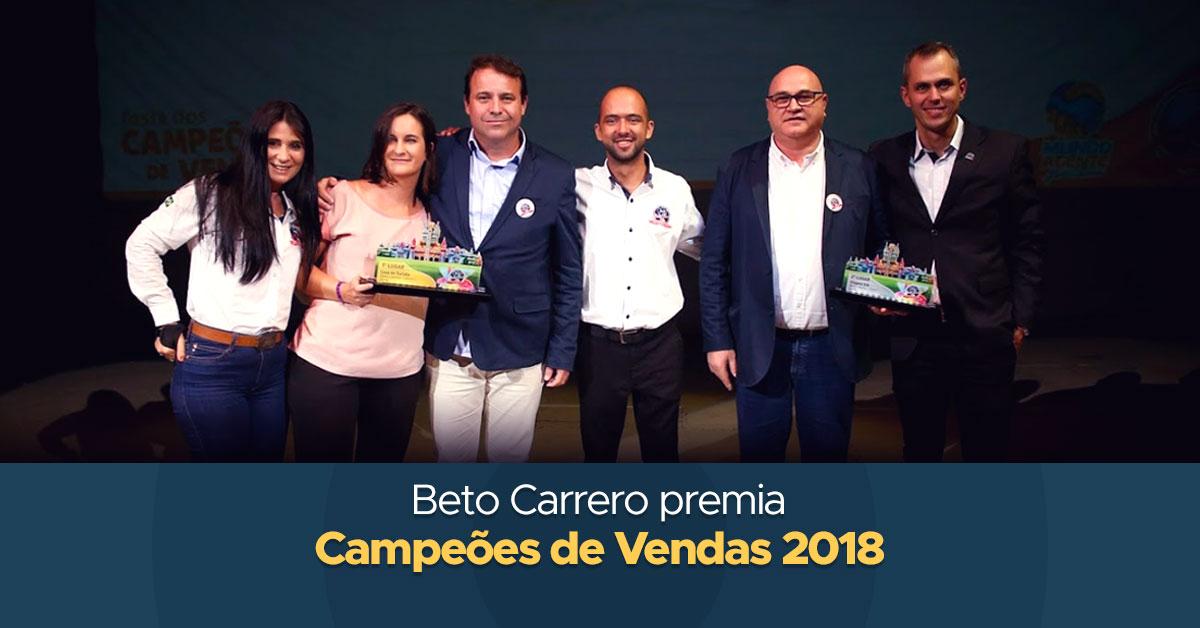 Beto Carrero premia Campeões de Vendas 2018